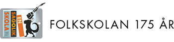 En sagolik skola Sticky Logo